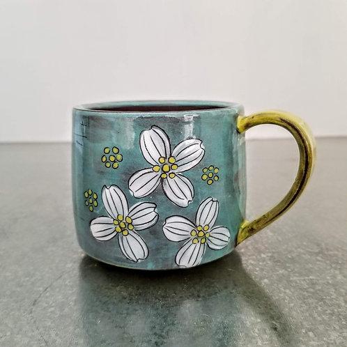dogwood flower mug