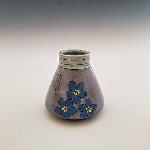 forget-me-not flask bud vase