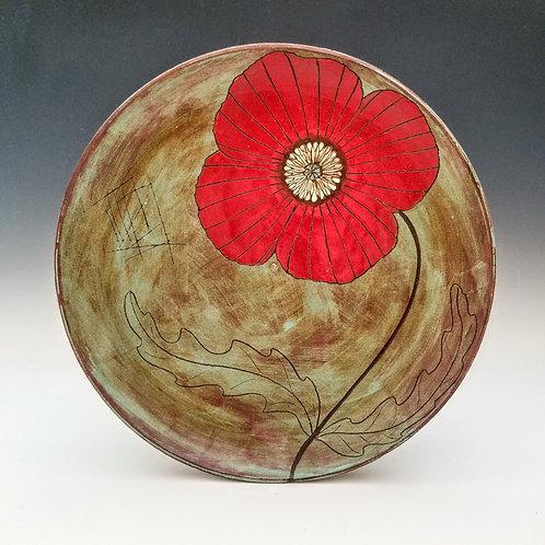 large poppy flower platter