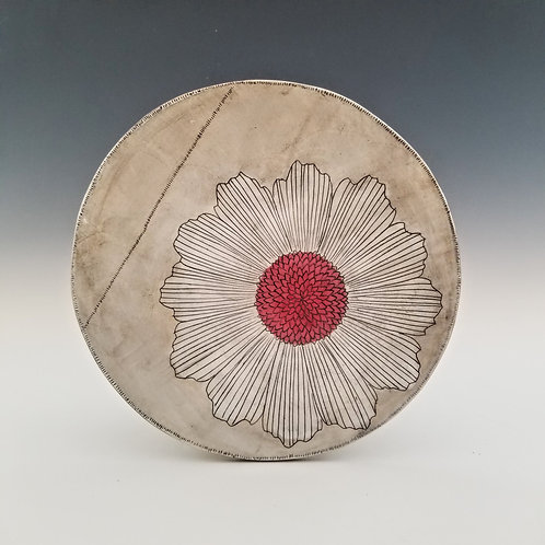 cosmos flower platter