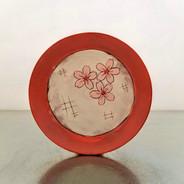 cherry blossom toast plate