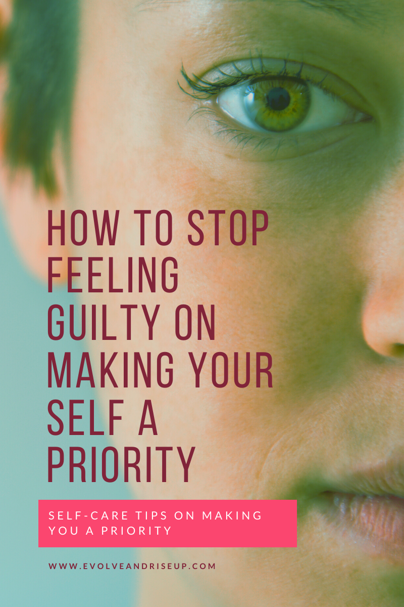 Blog post How to stop feeling guilty on making yourself a priority. If you are thinking - My life sucks right now, my life is boring, I feel trapped. Stacy Laine owner of Evolve and Rise Up is a Mindset Life Coach that helps motivated people like yourself create a life you don't want to escape. No longer will you wonder how to make people like you.