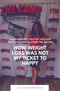 BLOG POST My weight loss journey didn't make me happy. How your mind has EVERYTHING to do with it. Stacy Laine Master Life Coach and founder of Evolve And Rise Up.