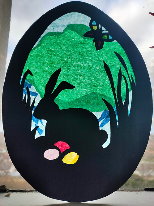 Easter Window Hangings (made by class 4/5)