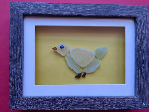 Sea Glass Picture (chick) framed