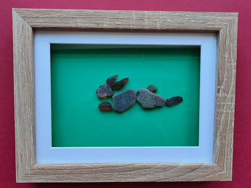 Sea Glass Picture (hare) framed