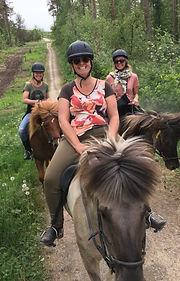 Guidede ture på islandske heste