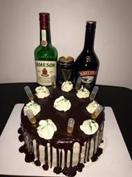 Chocolate Whiskey Cake W/Irish Cream Buttercream