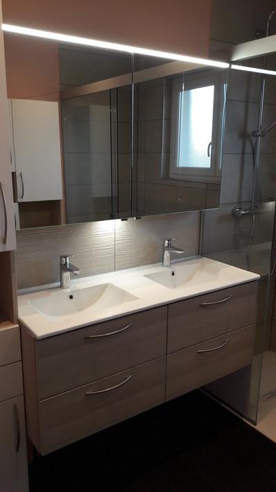 Vue miroir vasque