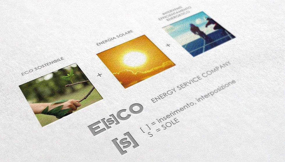 Progetto grafico e realizzazionelogo aziendale - Escoenergy di Moscarino S.as.