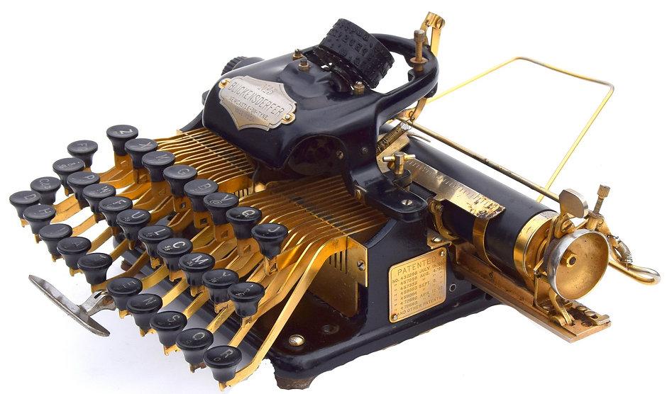 Gold Plated Blickensderfer 5 Typewriter