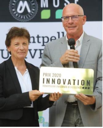 Remise de la médaille de l'innovation 2020 MUSE décernée à Claude Grison