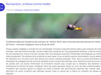 Bioinspiration, la Nature comme modèle