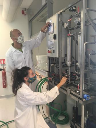 Nouveau pilote de biosorption alimenté par un filtre 100% végétal