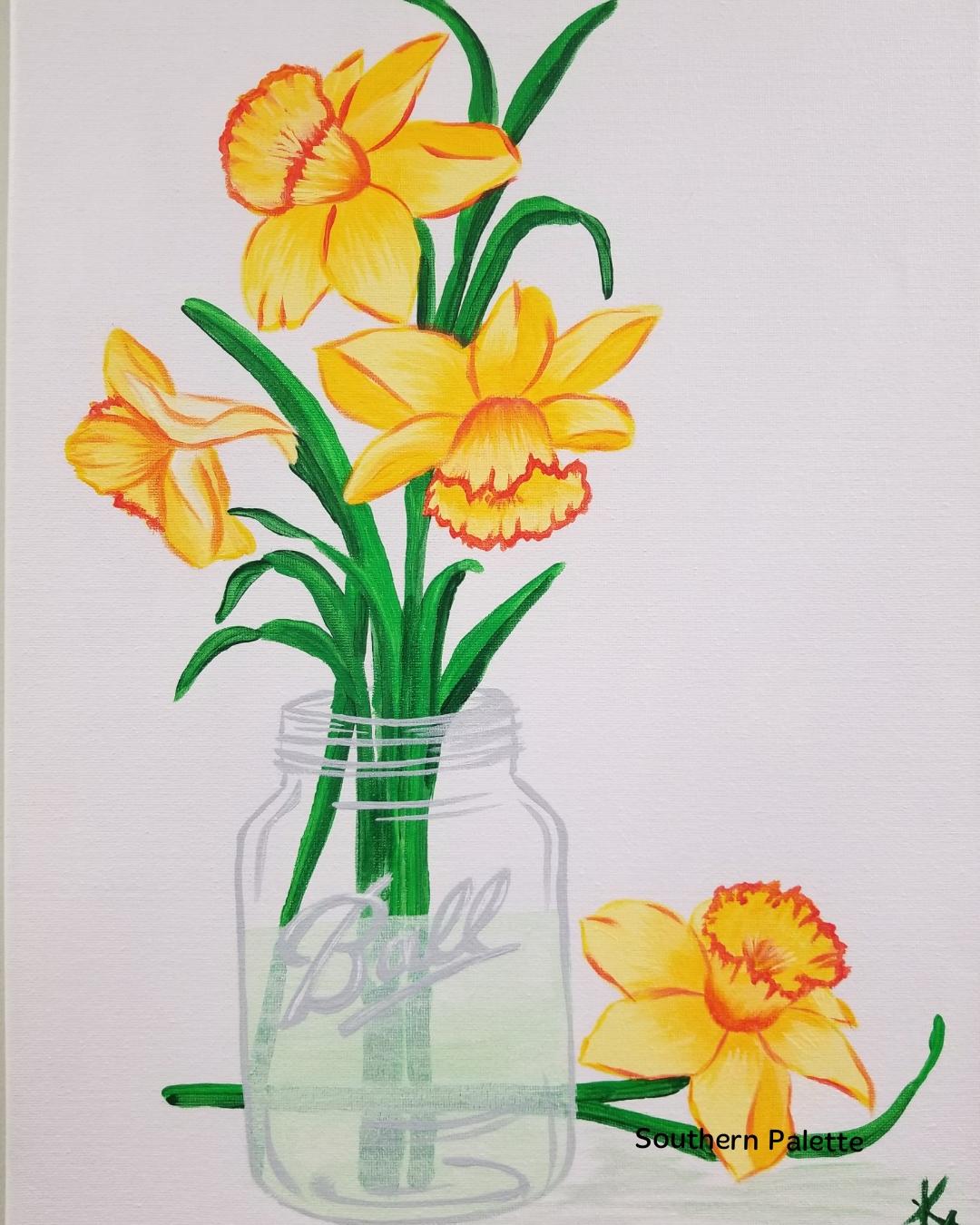 Daffodil Jar