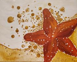 Sand Star and Sea Foam