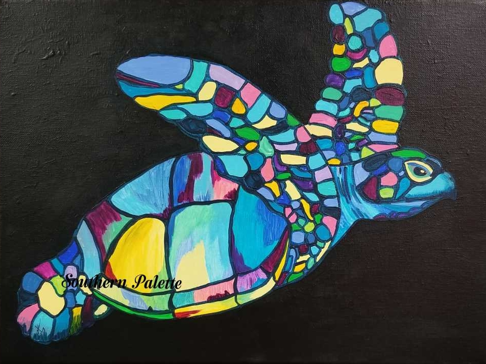 Pretty Sea Turtle