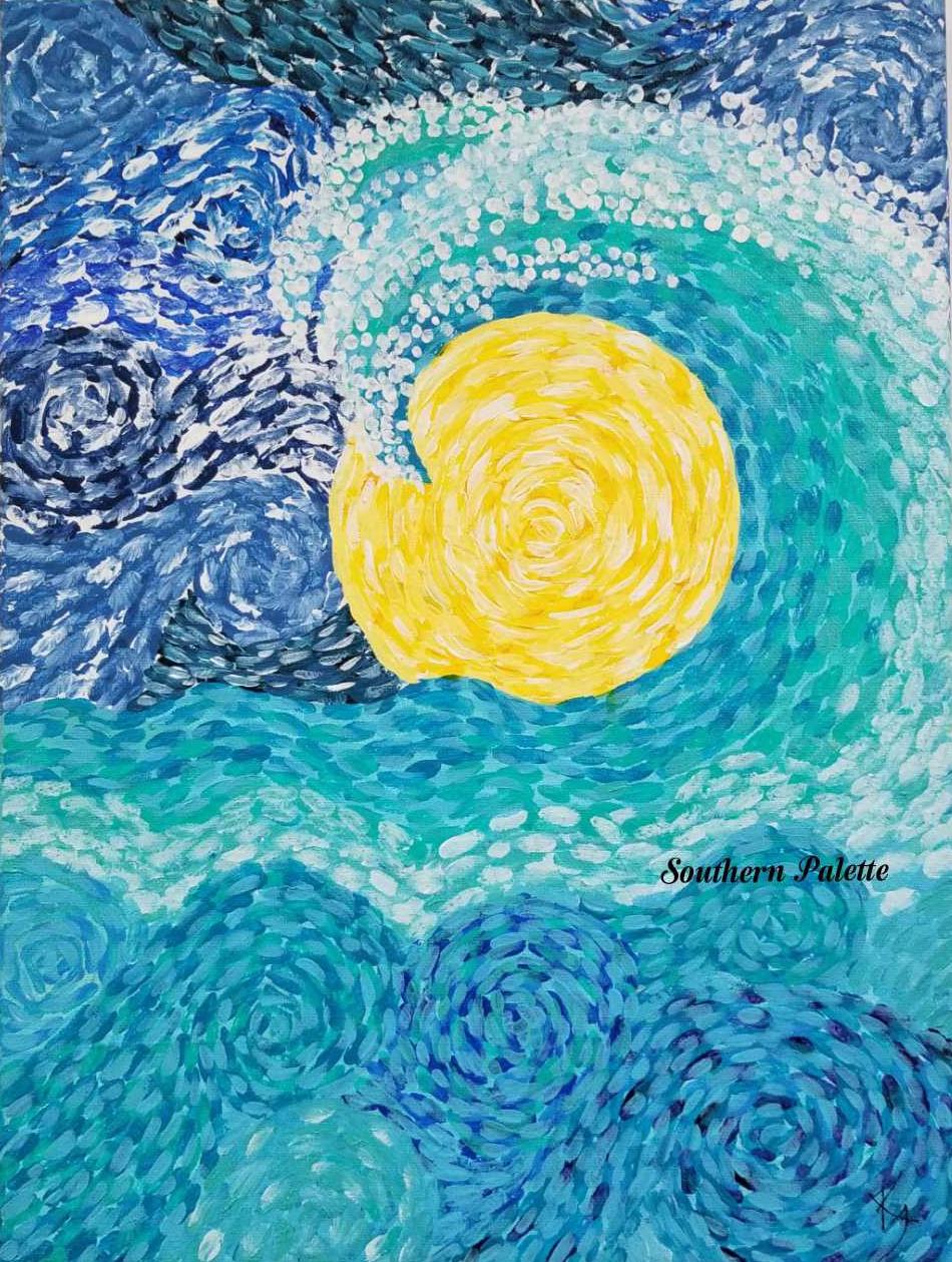 Van Gogh Style Wave