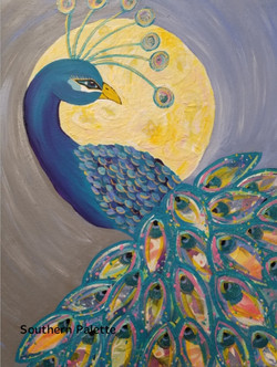 Mixed Media Peacock