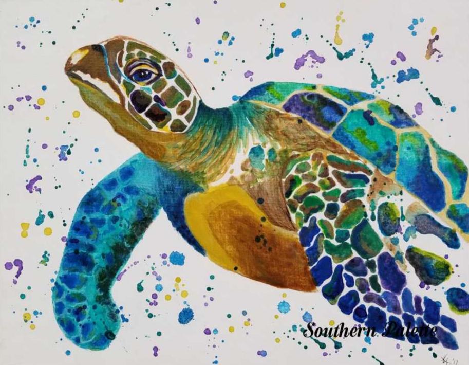 Mardi Gras Sea Turtle