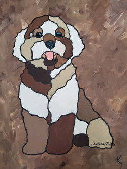 Stained Glass Puppy
