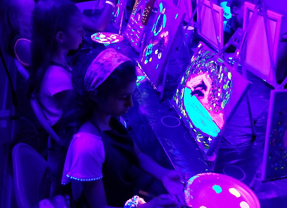 Black light (add to birthday packages)