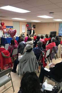 Dr. Paul Mercer leads an educational presentation on heart health at Whittier Hospital.