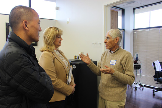 Visitors tour the newly opened Access Primary Care Physicians office in Montebello.