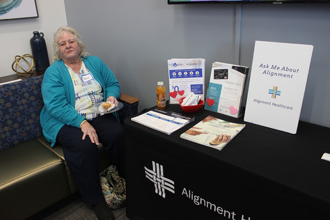 Nancy McCormick at an Access Primary Care Physicians open house.