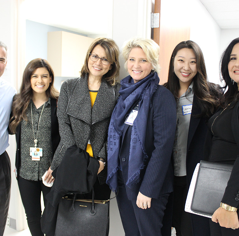 Visitors from Whittier Hospital Medical Center, owned and operated by AHMC Healthcare Inc., and Placentia-Linda Hospital took a tour of the Access Primary Care Physicians office in Anaheim.