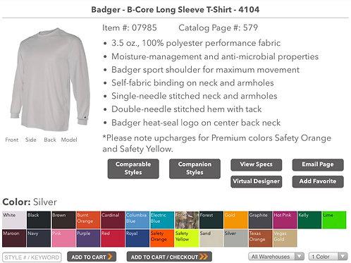 Breathable Longsleeve Shirt (Youth XS-Adult XXXL)