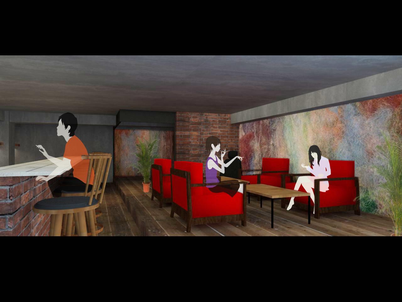 六本木 バー CG 飲み屋 カフェ 古材 いい感じ デザイナーズ