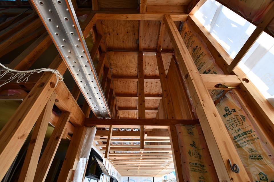 大地の家 木造在来工法 格好いい工事中 アトリエトート 安田智紀 ヤスダトモキ
