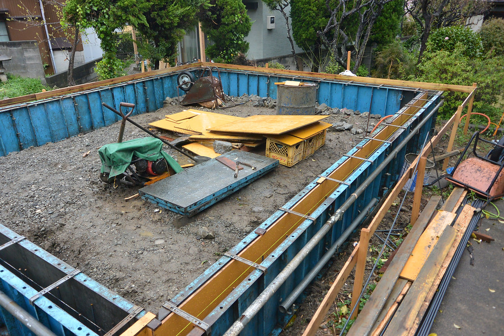 アトリエトート 葉山の小屋 基礎型枠