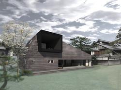 Att アトリエトート 展望台の家 平屋 ロフト かっこいい 黒い外観