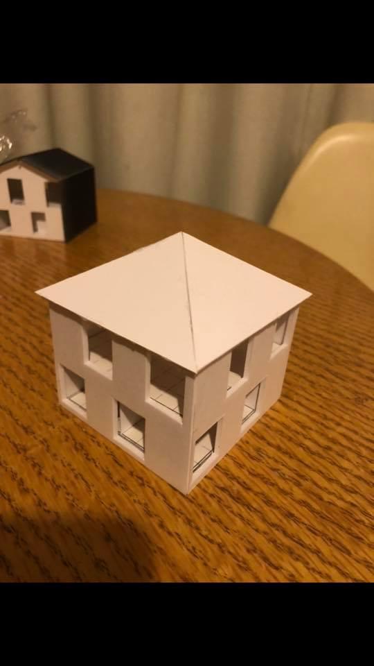 からっぽの家 トートアーキテクツ  安田智紀 スタディ模型