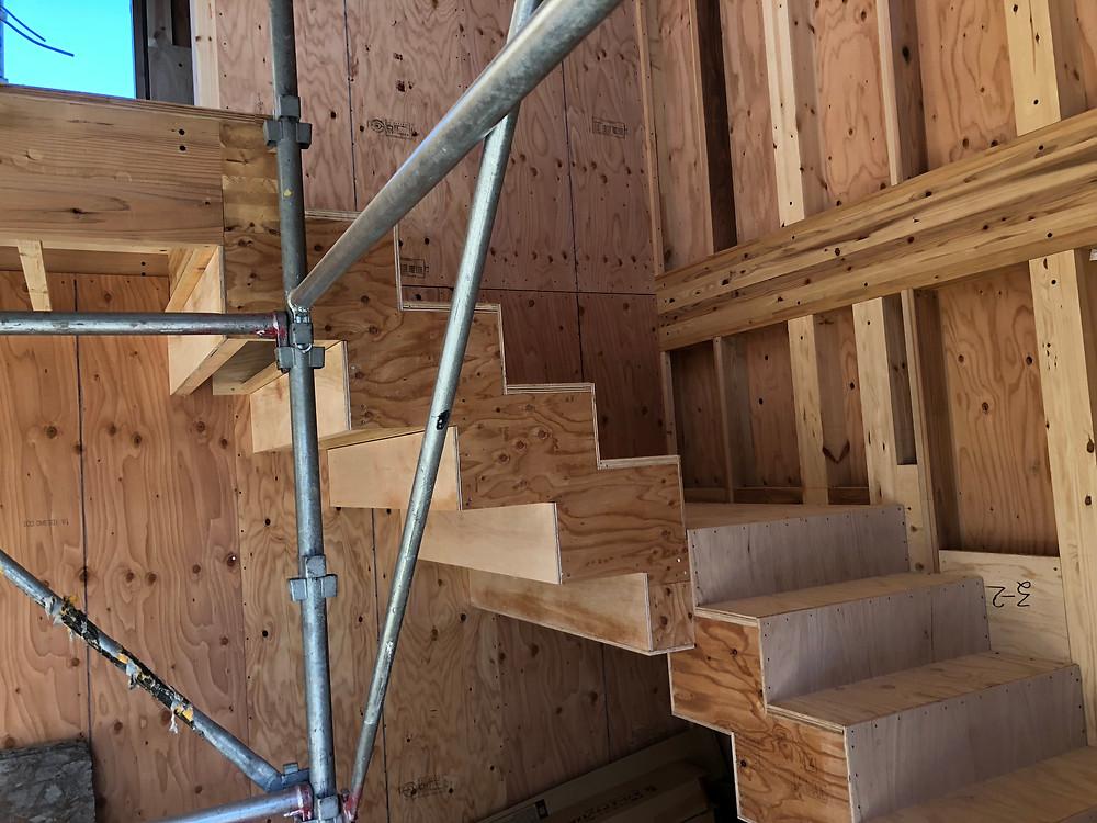 からっぽの家 階段下地 tote architects トートアーキテクツ  安田智紀