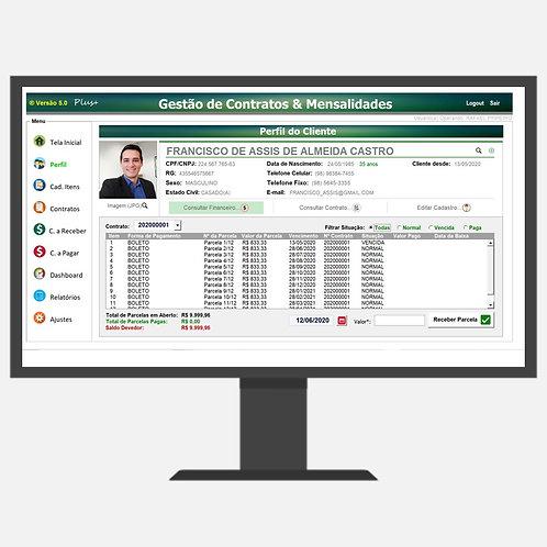 Sistema gestão de contratos e mensalidades 5.0 Plus+