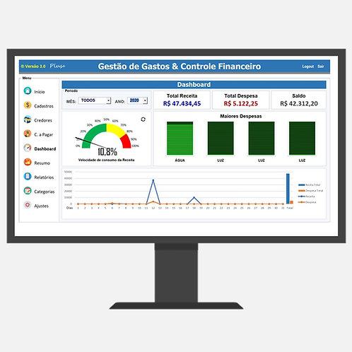 Controle Financeiro e Fluxo de Caixa 3.0 Plus+ Com Contas a Pagar