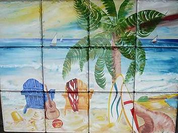 Beach and Surf Ceramic Tile Mural