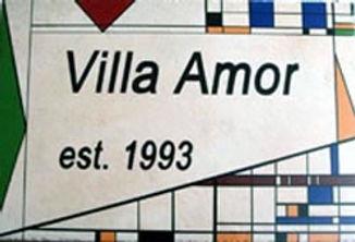 Modern home name sign
