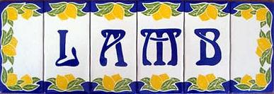 Individual Lemon Ceramic Plaques