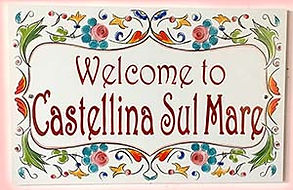 Floral welcome and name sign