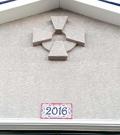 Italian custom house number plaque