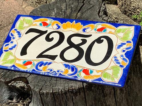 Italian style address tile