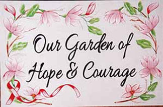 Pink Flowers Garden Plaque