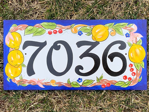Lemon address sign