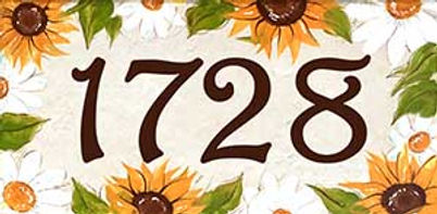 Sunflower and Dasies bloral address tile