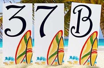 Surfboard address numbers