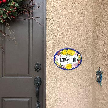 Oval Italian Benvenudo door sign